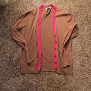 Brown/pink cardigan